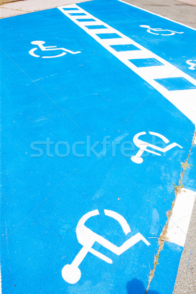 place reserved for disabled people Stock photo © phbcz