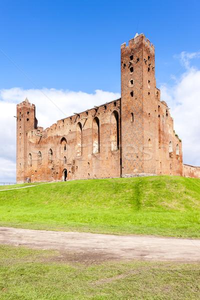 ruins of castle in Radzyn Chelminski, Kuyavia-Pomerania, Poland Stock photo © phbcz