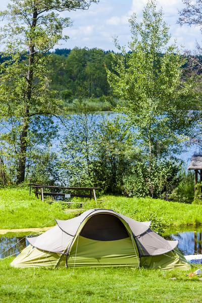 Camping Polônia tenda acampamento lazer ao ar livre Foto stock © phbcz