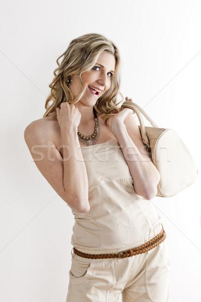 Retrato em pé mulher verão roupa Foto stock © phbcz