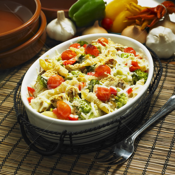 pasta baked with turkey and Roman cauliflower Stock photo © phbcz