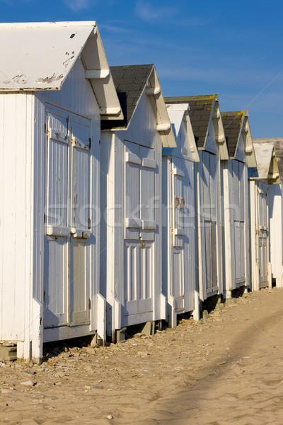 Plage normandie France bois vacances plages Photo stock © phbcz