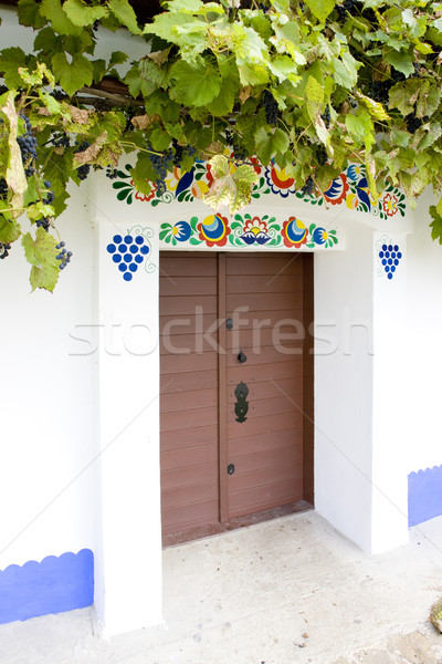 detail of folk wine cellar, Blatnice pod svatym Antoninkem, Czec Stock photo © phbcz