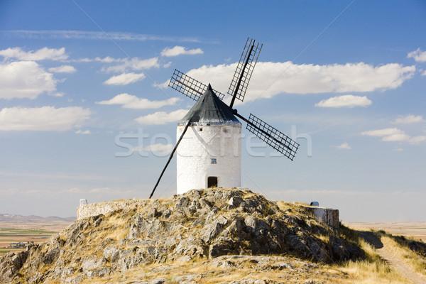 windmill, Consuegra, Castile-La Mancha, Spain Stock photo © phbcz