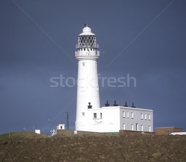 lighthouse, Flamborough Head, England, Great Britain Stock photo © phbcz