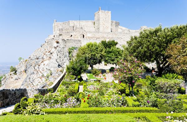 Castillo Portugal edificio jardín viaje arquitectura Foto stock © phbcz
