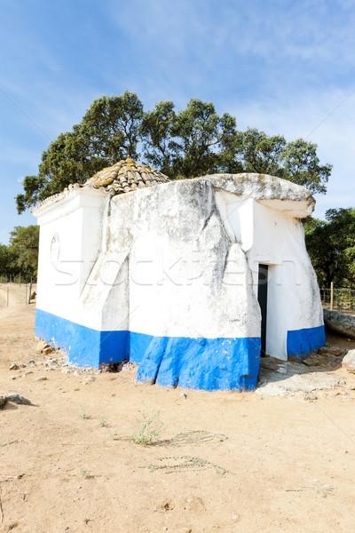 chapel from dolmen at Sao Brissos near Evora, Alentejo, Portugal Stock photo © phbcz
