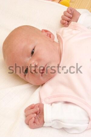 Alszik baba gyerekek gyermek lányok portré Stock fotó © phbcz