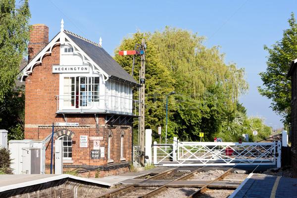 Spoorweg museum treinstation reizen architectuur buitenshuis Stockfoto © phbcz