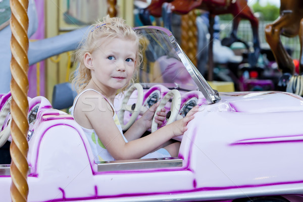 女の子 回転木馬 少女 車 子 子供 ストックフォト © phbcz