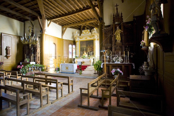 interior of church in Outines, Champagne, France Stock photo © phbcz