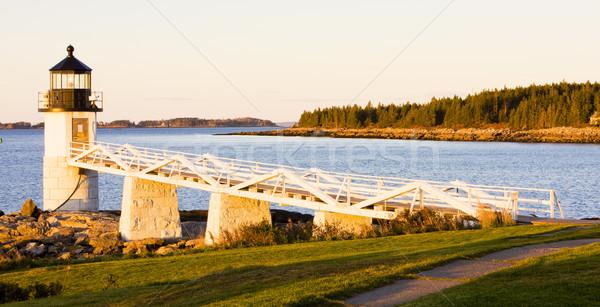 Stock fotó: Pont · világítótorony · Maine · USA · biztonság · óceán