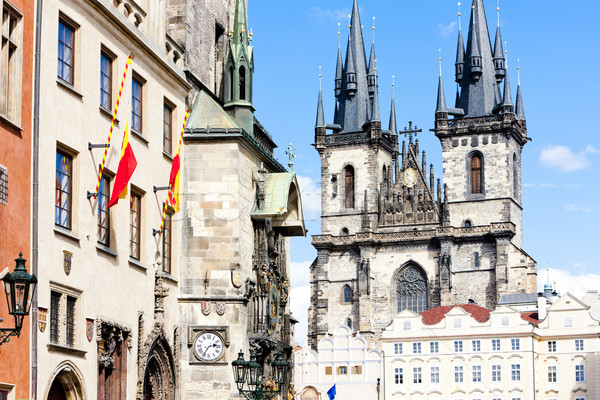 Tynsky church at Old Town Square, Prague, Czech Republic Stock photo © phbcz