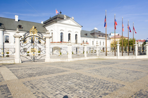 Presidential residence in Grassalkovich Palace on Hodzovo Square Stock photo © phbcz