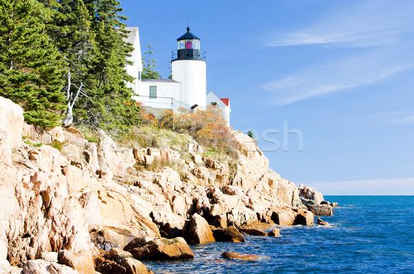 Bas liman deniz feneri Maine ABD Bina Stok fotoğraf © phbcz