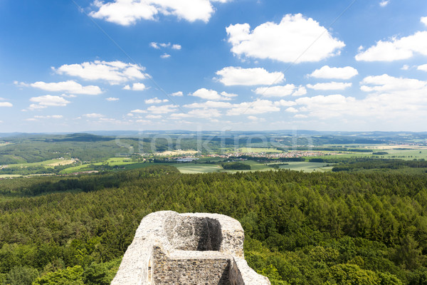 view from ruins of Radyne Castle, Czech Republic Stock photo © phbcz
