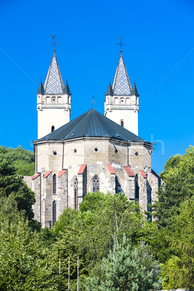 church and monastery, Hronsky Benadik, Slovakia Stock photo © phbcz