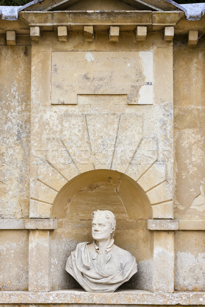 bust of Isaac Newton, Stowe, Buckinghamshire, England Stock photo © phbcz
