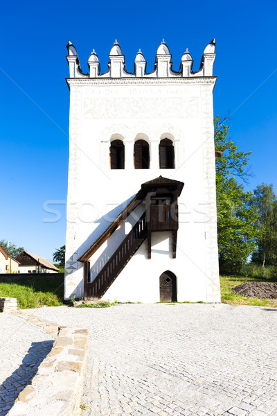 Kale Slovakya Bina mimari merdiven Avrupa Stok fotoğraf © phbcz