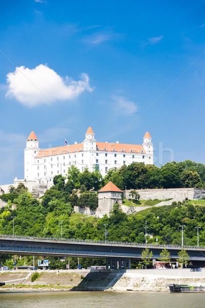 ブラチスラバ 城 スロバキア 市 橋 旅行 ストックフォト © phbcz