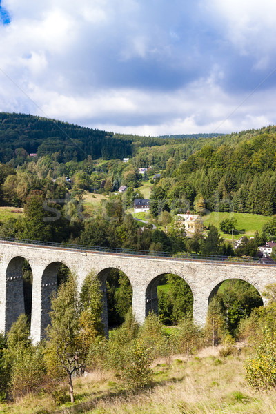 railway viaduct Novina, Krystofovo Valley, Czech Republic Stock photo © phbcz
