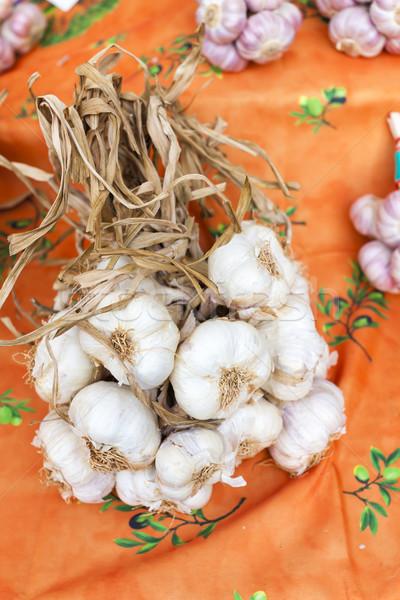 Сток-фото: чеснока · рынке · Франция · продовольствие · растительное · здорового