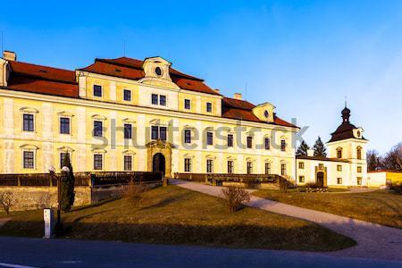 Pałac Czechy podróży zamek architektury odkryty Zdjęcia stock © phbcz