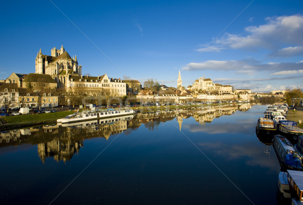 Auxerre, Burgundy, France Stock photo © phbcz