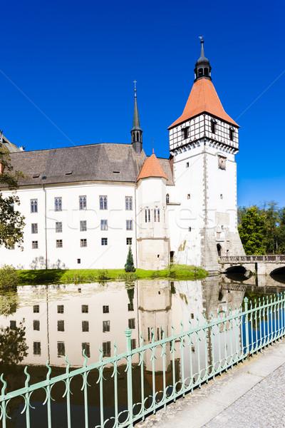 дворец Чешская республика воды путешествия замок архитектура Сток-фото © phbcz