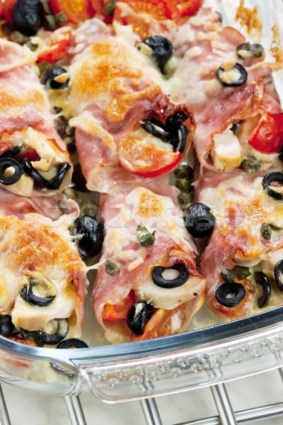 Сток-фото: ветчиной · куриные · мяса · маслины
