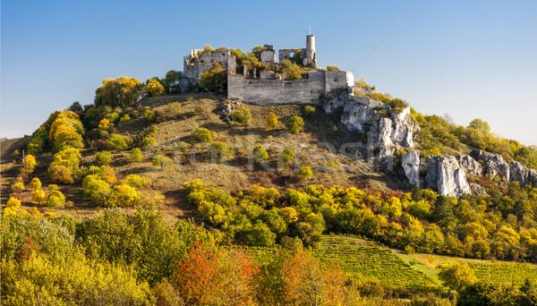 Ruinas castillo otono bajar Austria edificio Foto stock © phbcz