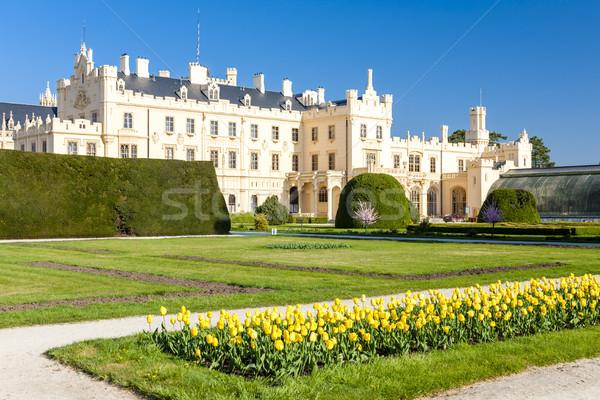 ストックフォト: 宮殿 · 庭園 · チェコ共和国 · 建物 · 旅行 · アーキテクチャ