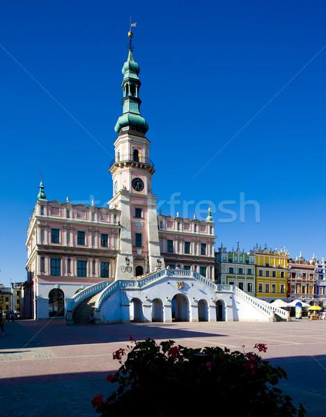 Town Hall, Main Square (Rynek Wielki), Zamosc, Poland Stock photo © phbcz