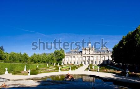 La Granja de San Ildefonso with garden, Segovia Province, Castil Stock photo © phbcz