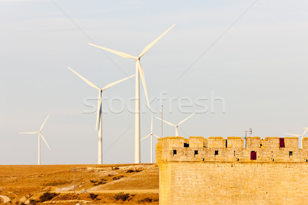 wind turbines, Ampudia, Castile and Leon, Spain Stock photo © phbcz