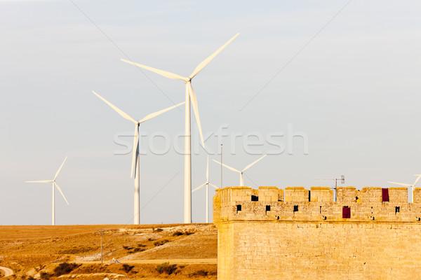 Zdjęcia stock: Hiszpania · przemysłu · zamek · energii · moc