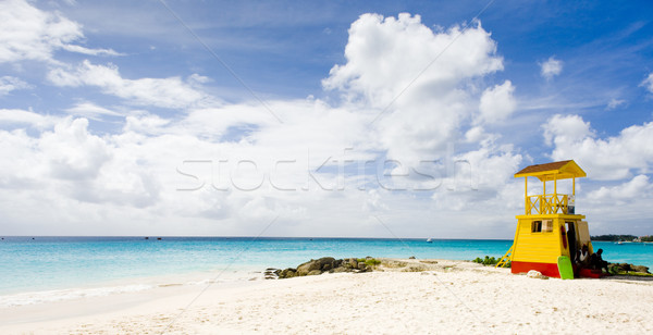 Cabina playa empresa Barbados Caribe mar Foto stock © phbcz