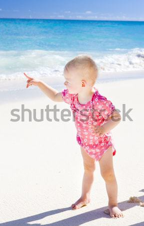 Plage Barbade Caraïbes enfants enfant Photo stock © phbcz