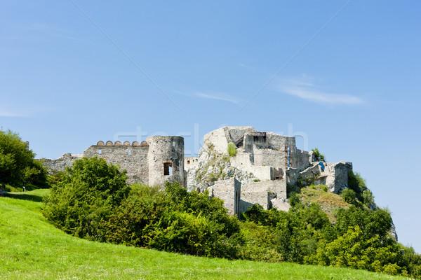 Foto stock: Castelo · Eslováquia · edifício · arquitetura · história · ruínas