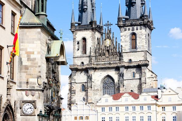 Tynsky church at Old Town Square, Prague, Czech Republic Stock photo © phbcz