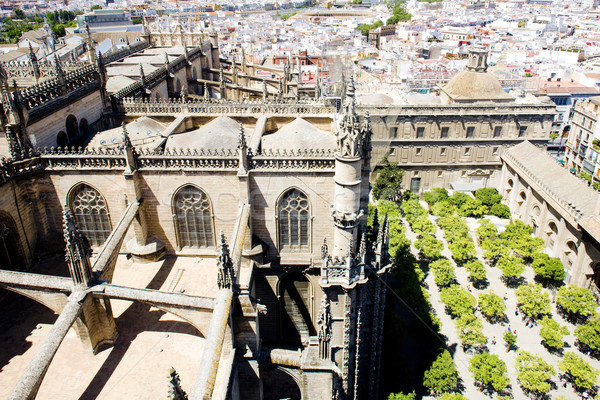 Cathedral of Seville view from La Giralda, Andalusia, Spain Stock photo © phbcz