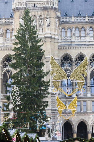 Christmas decoration in front of city hall of Vienna, Austria Stock photo © phbcz