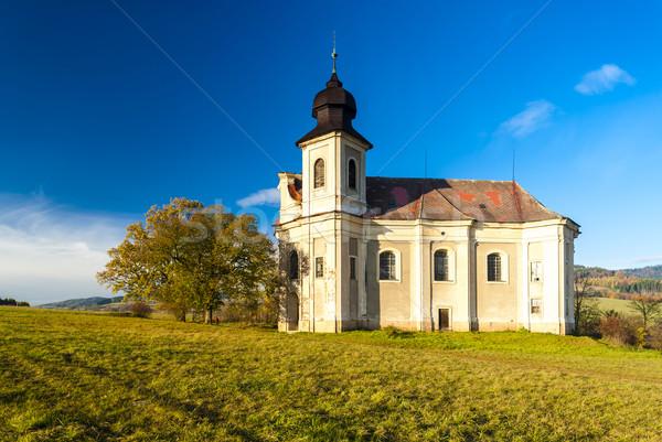 Kerk Tsjechische Republiek gebouw architectuur Europa Stockfoto © phbcz