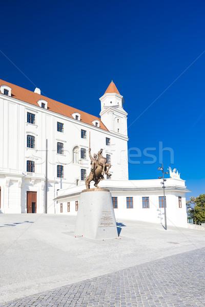 Bratislava kasteel Slowakije reizen architectuur Europa Stockfoto © phbcz