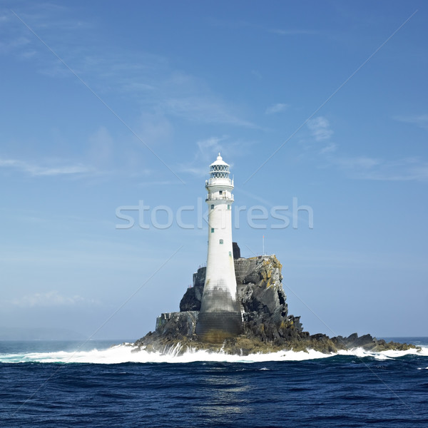 Phare Rock Cork Irlande bâtiment lumière Photo stock © phbcz