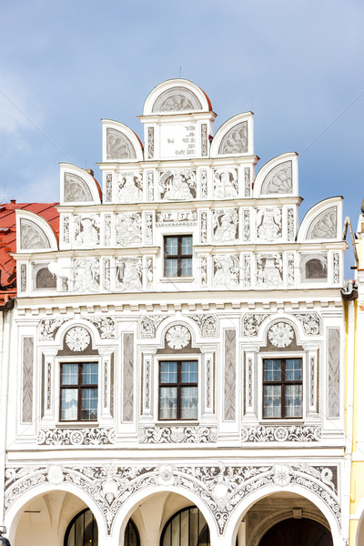 renaissance house in Telc, Czech Republic Stock photo © phbcz