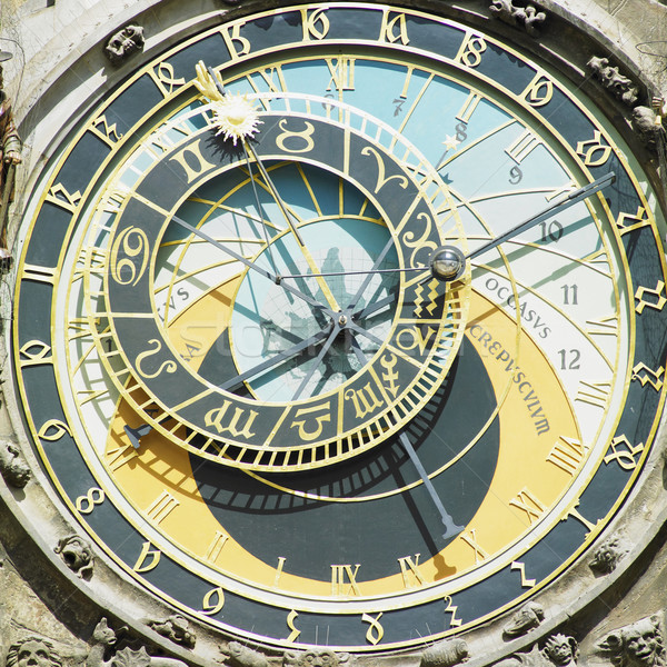 detail of Horloge, Old Town Hall, Prague, Czech Republic Stock photo © phbcz