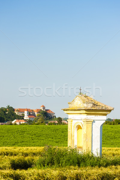 God's torture with field and Jaroslavice Castle, Czech Republic Stock photo © phbcz