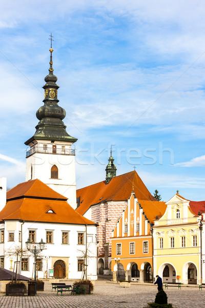 Masaryk Square, Pelhrimov, Czech Republic Stock photo © phbcz
