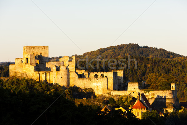 ruins of Rabi Castle, Czech Republic Stock photo © phbcz